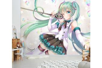 3D Hatsune Miku 574 Anime Wall Murals Self-adhesive Vinyl, XL 208cm x 146cm (WxH)(82''x58'')