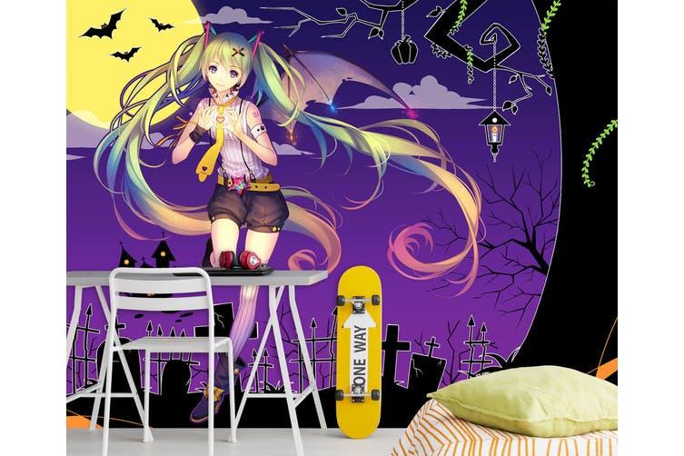 3D Hatsune Miku 573 Anime Wall Murals Woven paper (need glue), XL 208cm x 146cm (WxH)(82''x58'')
