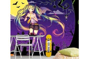 3D Hatsune Miku 573 Anime Wall Murals Woven paper (need glue), XXXL 416cm x 254cm (WxH)(164''x100'')