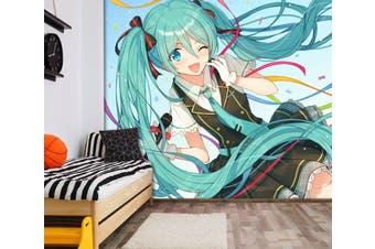 3D Hatsune Miku 569 Anime Wall Murals Self-adhesive Vinyl, XXXXL 520cm x 290cm (WxH)(205''x114'')