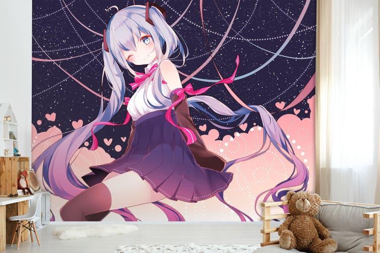 3D Hatsune Miku 567 Anime Wall Murals Self-adhesive Vinyl, XXL 312cm x 219cm (WxH)(123''x87'')
