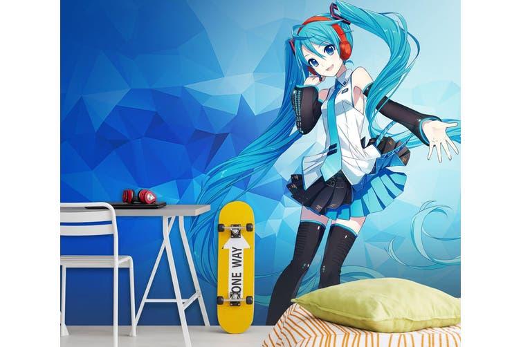 3D Hatsune Miku 566 Anime Wall Murals Self-adhesive Vinyl, XXXXL 520cm x 290cm (WxH)(205''x114'')