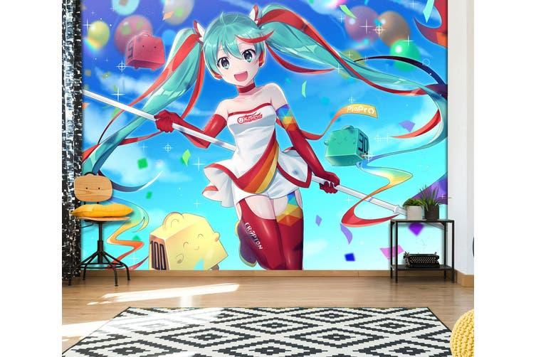 3D Hatsune Miku 565 Anime Wall Murals Self-adhesive Vinyl, XL 208cm x 146cm (WxH)(82''x58'')