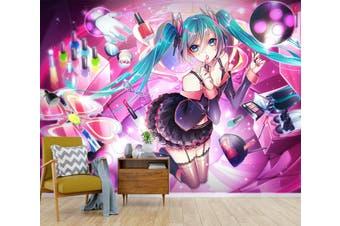 3D Hatsune Miku 564 Anime Wall Murals Woven paper (need glue), XXXL 416cm x 254cm (WxH)(164''x100'')