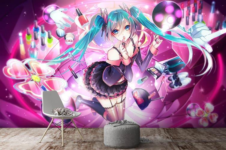 3D Hatsune Miku 564 Anime Wall Murals Woven paper (need glue), XXXXL 520cm x 290cm (WxH)(205''x114'')