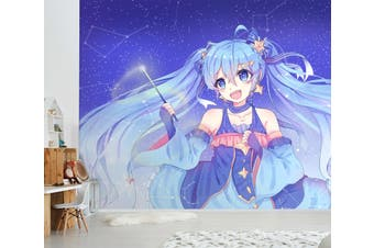 3D Hatsune Miku 562 Anime Wall Murals Woven paper (need glue), XL 208cm x 146cm (WxH)(82''x58'')