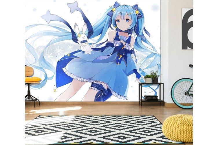 3D Hatsune Miku 560 Anime Wall Murals Woven paper (need glue), XXL 312cm x 219cm (WxH)(123''x87'')