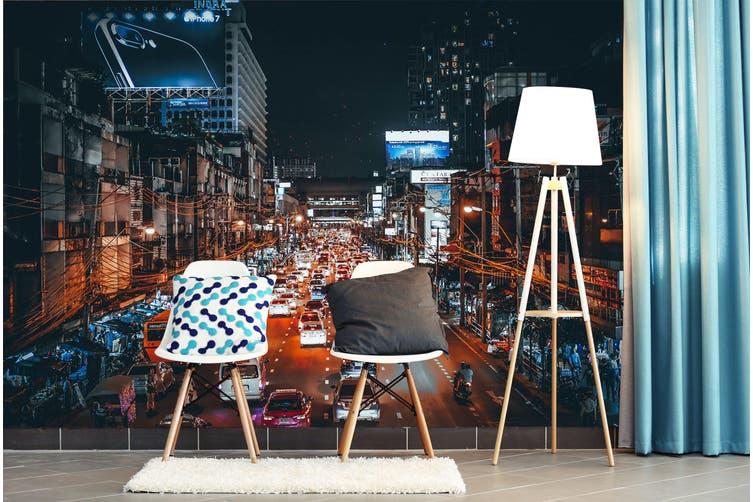 3D Night Light Car 397 Vehicle Wall Murals Wallpaper Murals Woven paper (need glue), XXXL 416cm x 254cm (WxH)(164''x100'')