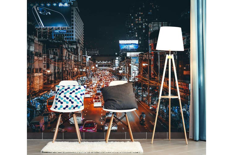 3D Night Light Car 397 Vehicle Wall Murals Wallpaper Murals Self-adhesive Vinyl, XL 208cm x 146cm (WxH)(82''x58'')