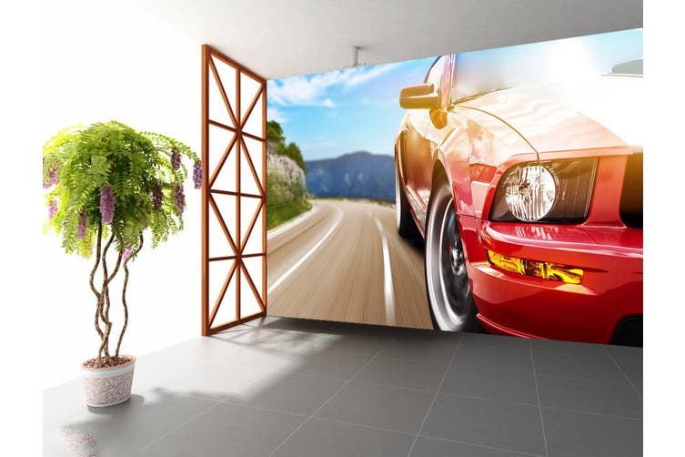 3D Sports Car 395 Vehicle Wall Murals Wallpaper Murals Self-adhesive Vinyl, XXL 312cm x 219cm (WxH)(123''x87'')