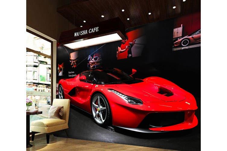 3D Luxury Ferrari 392 Vehicle Wall Murals Wallpaper Murals Self-adhesive Vinyl, XXL 312cm x 219cm (WxH)(123''x87'')