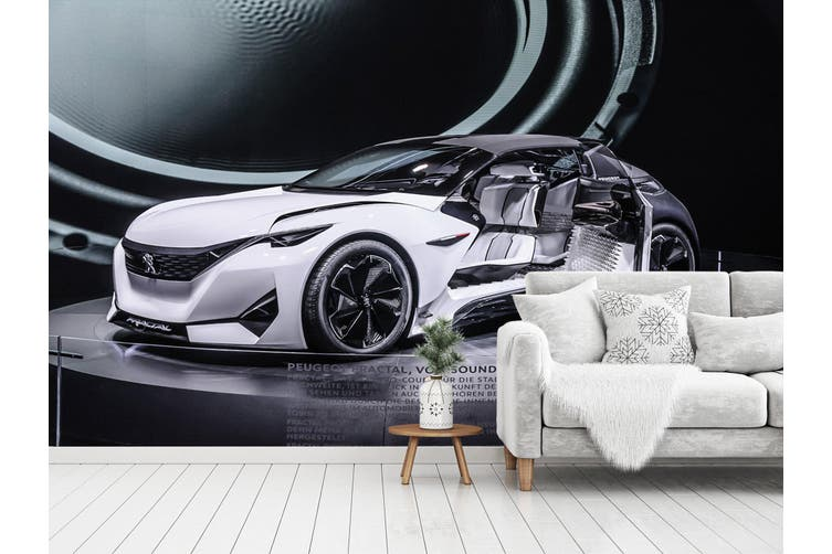 3D Peugeot Fractal 388 Vehicle Wall Murals Wallpaper Murals Woven paper (need glue), XXXXL 520cm x 290cm (WxH)(205''x114'')