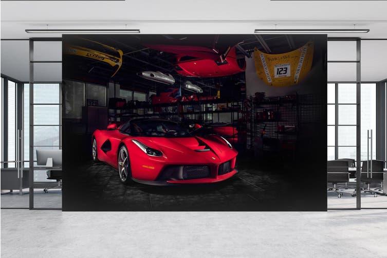 3D Ferrari Repair Room 387 Vehicle Wall Murals Wallpaper Murals Self-adhesive Vinyl, XXXL 416cm x 254cm (WxH)(164''x100'')