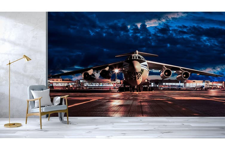 3D Aircraft Lighting 386 Vehicle Wall Murals Wallpaper Murals Woven paper (need glue), XL 208cm x 146cm (WxH)(82''x58'')