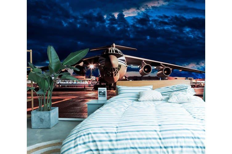 3D Aircraft Lighting 386 Vehicle Wall Murals Wallpaper Murals Woven paper (need glue), XXL 312cm x 219cm (WxH)(123''x87'')