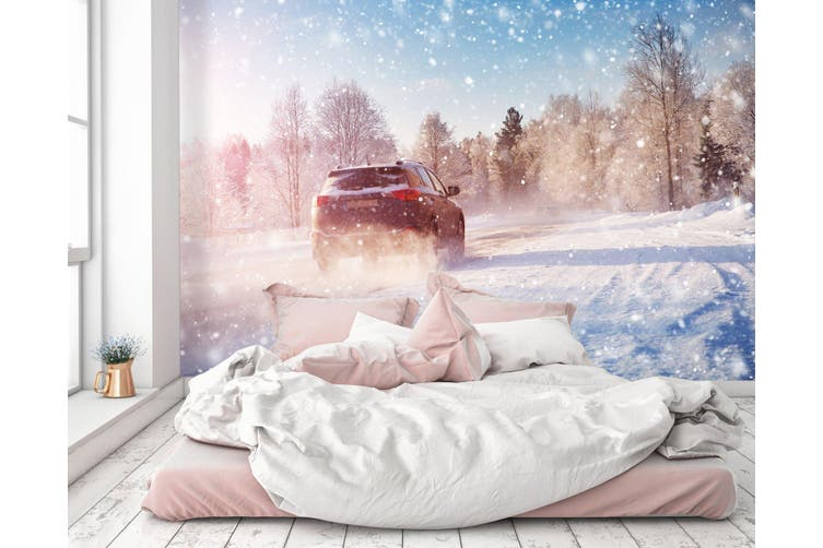 3D Snowflake Car 383 Vehicle Wall Murals Wallpaper Murals Woven paper (need glue), XXXXL 520cm x 290cm (WxH)(205''x114'')