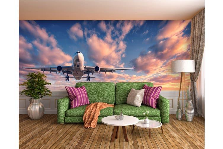 3D Dusk Plane 381 Vehicle Wall Murals Wallpaper Murals Self-adhesive Vinyl, XXL 312cm x 219cm (WxH)(123''x87'')