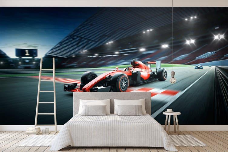 3D Stadium Car 380 Vehicle Wall Murals Wallpaper Murals Woven paper (need glue), XL 208cm x 146cm (WxH)(82''x58'')