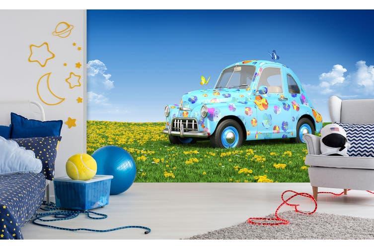 3D Cute Butterfly Car 379 Vehicle Wall Murals Wallpaper Murals Self-adhesive Vinyl, XXXXL 520cm x 290cm (WxH)(205''x114'')