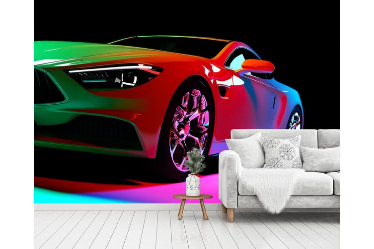3D Colorful Luxury Car 374 Vehicle Wall Murals Wallpaper Murals Woven paper (need glue), XL 208cm x 146cm (WxH)(82''x58'')