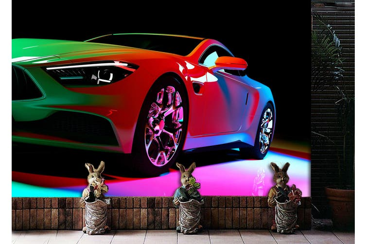 3D Colorful Luxury Car 374 Vehicle Wall Murals Wallpaper Murals Self-adhesive Vinyl, XL 208cm x 146cm (WxH)(82''x58'')