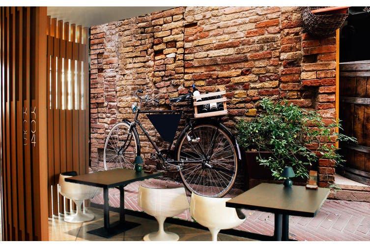 3D Brick Wall Bicycle 373 Vehicle Wall Murals Wallpaper Murals Woven paper (need glue), XXL 312cm x 219cm (WxH)(123''x87'')