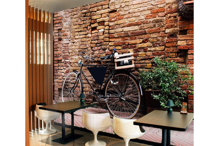 3D Brick Wall Bicycle 373 Vehicle Wall Murals Wallpaper Murals Self-adhesive Vinyl, XXXXL 520cm x 290cm (WxH)(205''x114'')