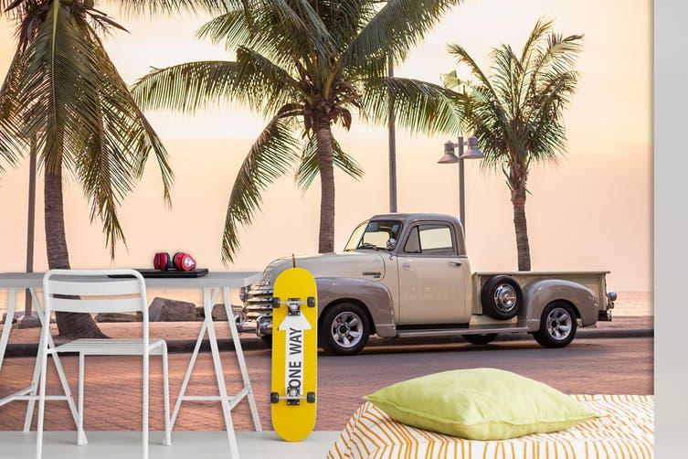 3D Coconut Tree Truck 370 Vehicle Wall Murals Wallpaper Murals Self-adhesive Vinyl, XXL 312cm x 219cm (WxH)(123''x87'')