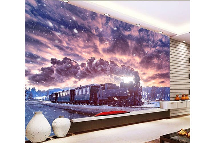 3D Vintage Train Smoke 368 Vehicle Wall Murals Wallpaper Murals Woven paper (need glue), XXL 312cm x 219cm (WxH)(123''x87'')