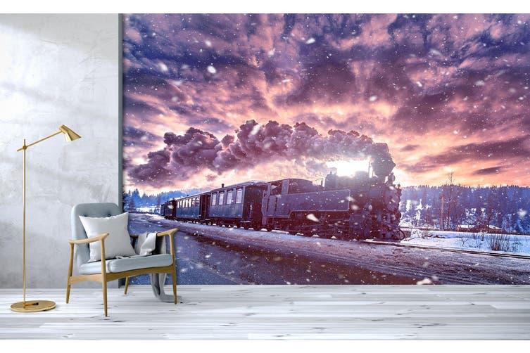 3D Vintage Train Smoke 368 Vehicle Wall Murals Wallpaper Murals Woven paper (need glue), XXXL 416cm x 254cm (WxH)(164''x100'')
