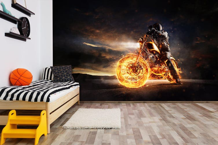 3D Steamer Motorcycle 367 Vehicle Wall Murals Wallpaper Murals Self-adhesive Vinyl, XXXXL 520cm x 290cm (WxH)(205''x114'')