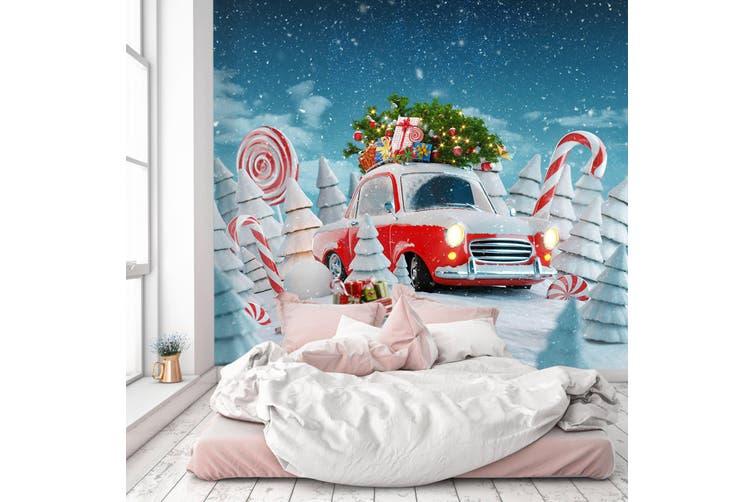 3D Christmas Lollipop 363 Vehicle Wall Murals Wallpaper Murals Woven paper (need glue), XXL 312cm x 219cm (WxH)(123''x87'')