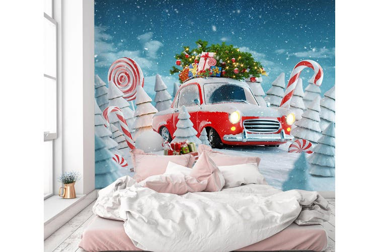 3D Christmas Lollipop 363 Vehicle Wall Murals Wallpaper Murals Self-adhesive Vinyl, XXXXL 520cm x 290cm (WxH)(205''x114'')