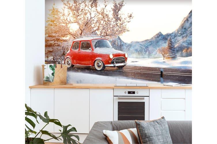 3D Snow Mountain Bike 361 Vehicle Wall Murals Wallpaper Murals Woven paper (need glue), XL 208cm x 146cm (WxH)(82''x58'')
