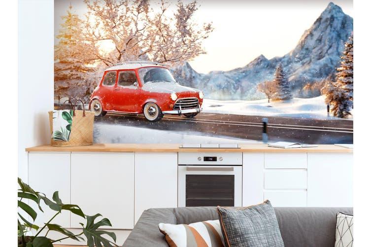 3D Snow Mountain Bike 361 Vehicle Wall Murals Wallpaper Murals Self-adhesive Vinyl, XXL 312cm x 219cm (WxH)(123''x87'')