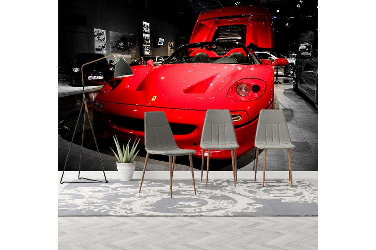 3D Ferrari Super 359 Vehicle Wall Murals Wallpaper Murals Woven paper (need glue), XXXL 416cm x 254cm (WxH)(164''x100'')