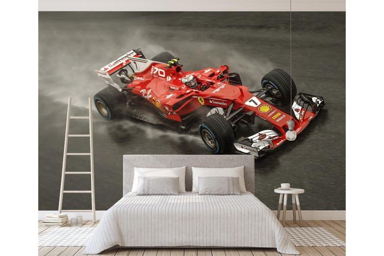 3D Red Ferrari 358 Vehicle Wall Murals Wallpaper Murals Woven paper (need glue), XXXL 416cm x 254cm (WxH)(164''x100'')