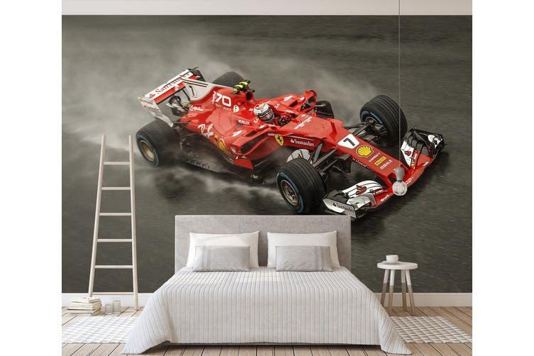 3D Red Ferrari 358 Vehicle Wall Murals Wallpaper Murals Self-adhesive Vinyl, XXL 312cm x 219cm (WxH)(123''x87'')