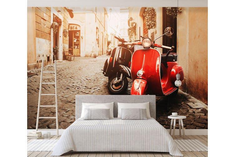 3D Red Electric Car 354 Vehicle Wall Murals Wallpaper Murals Woven paper (need glue), XL 208cm x 146cm (WxH)(82''x58'')