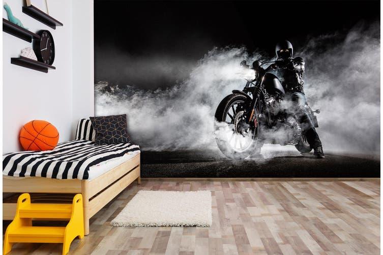 3D Fog Motorcycle 352 Vehicle Wall Murals Wallpaper Murals Self-adhesive Vinyl, XL 208cm x 146cm (WxH)(82''x58'')