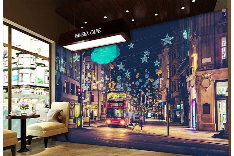 3D Intersection Bus 342 Vehicle Wall Murals Wallpaper Murals Woven paper (need glue), XXL 312cm x 219cm (WxH)(123''x87'')