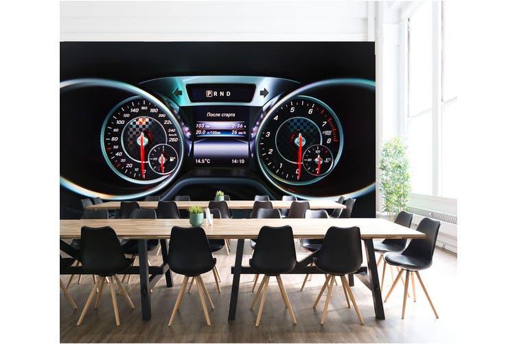 3D Mercedes Roulette 338 Vehicle Wall Murals Wallpaper Murals Woven paper (need glue), XXXL 416cm x 254cm (WxH)(164''x100'')