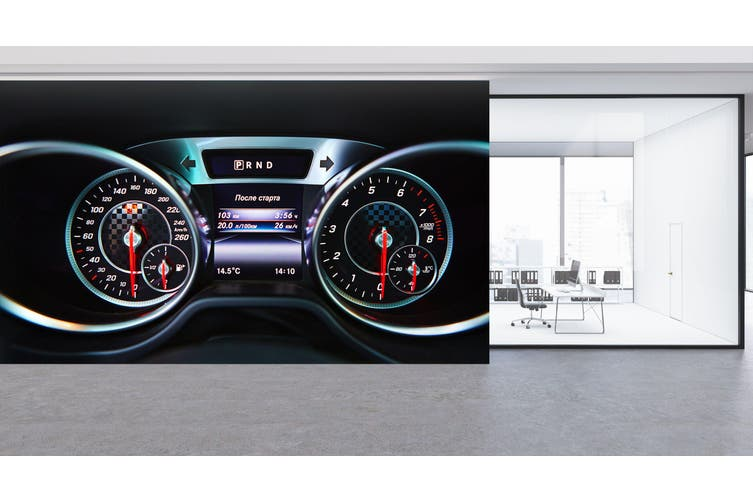 3D Mercedes Roulette 338 Vehicle Wall Murals Wallpaper Murals Self-adhesive Vinyl, XXL 312cm x 219cm (WxH)(123''x87'')