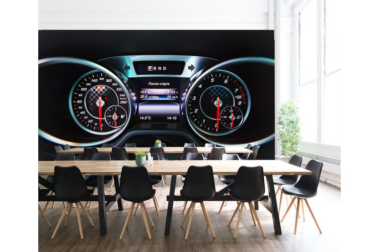 3D Mercedes Roulette 338 Vehicle Wall Murals Wallpaper Murals Self-adhesive Vinyl, XXXXL 520cm x 290cm (WxH)(205''x114'')