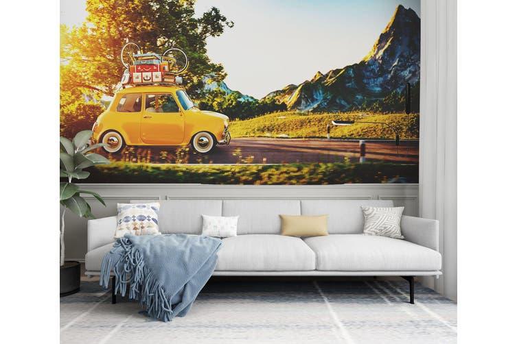 3D Self Driving Luggag 333 Vehicle Wall Murals Wallpaper Murals Woven paper (need glue), XXL 312cm x 219cm (WxH)(123''x87'')