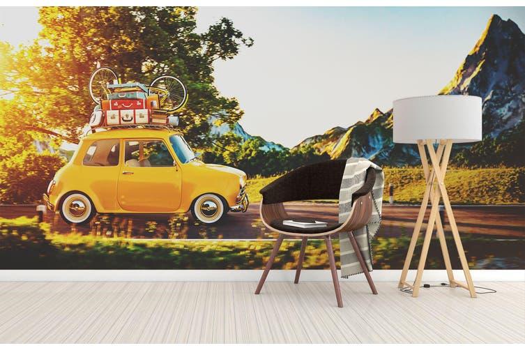 3D Self Driving Luggag 333 Vehicle Wall Murals Wallpaper Murals Self-adhesive Vinyl, XXXL 416cm x 254cm (WxH)(164''x100'')