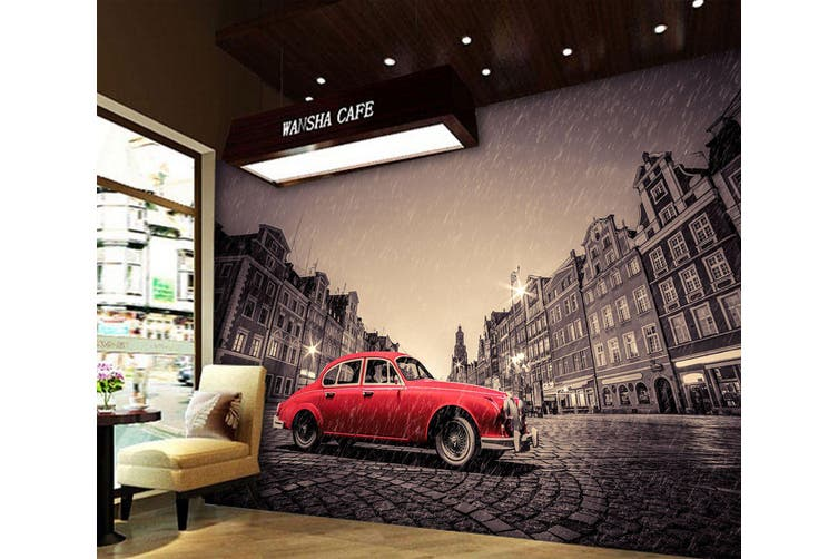 3D Rain Building Car 331 Vehicle Wall Murals Wallpaper Murals Woven paper (need glue), XXXL 416cm x 254cm (WxH)(164''x100'')