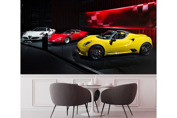 3D Sports Car Show 330 Vehicle Wall Murals Wallpaper Murals Woven paper (need glue), XXXL 416cm x 254cm (WxH)(164''x100'')