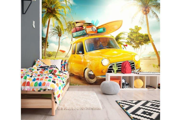 3D Forest Luggage Cart 319 Vehicle Wall Murals Wallpaper Murals Self-adhesive Vinyl, XXXXL 520cm x 290cm (WxH)(205''x114'')