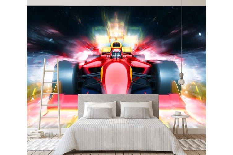 3D Red Racing Car 317 Vehicle Wall Murals Wallpaper Murals Woven paper (need glue), XXL 312cm x 219cm (WxH)(123''x87'')